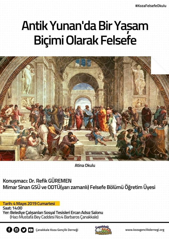 """Koza Felsefe Okulu: """"Antik Yunan'da Bir Yaşam Biçimi Olarak Felsefe"""""""