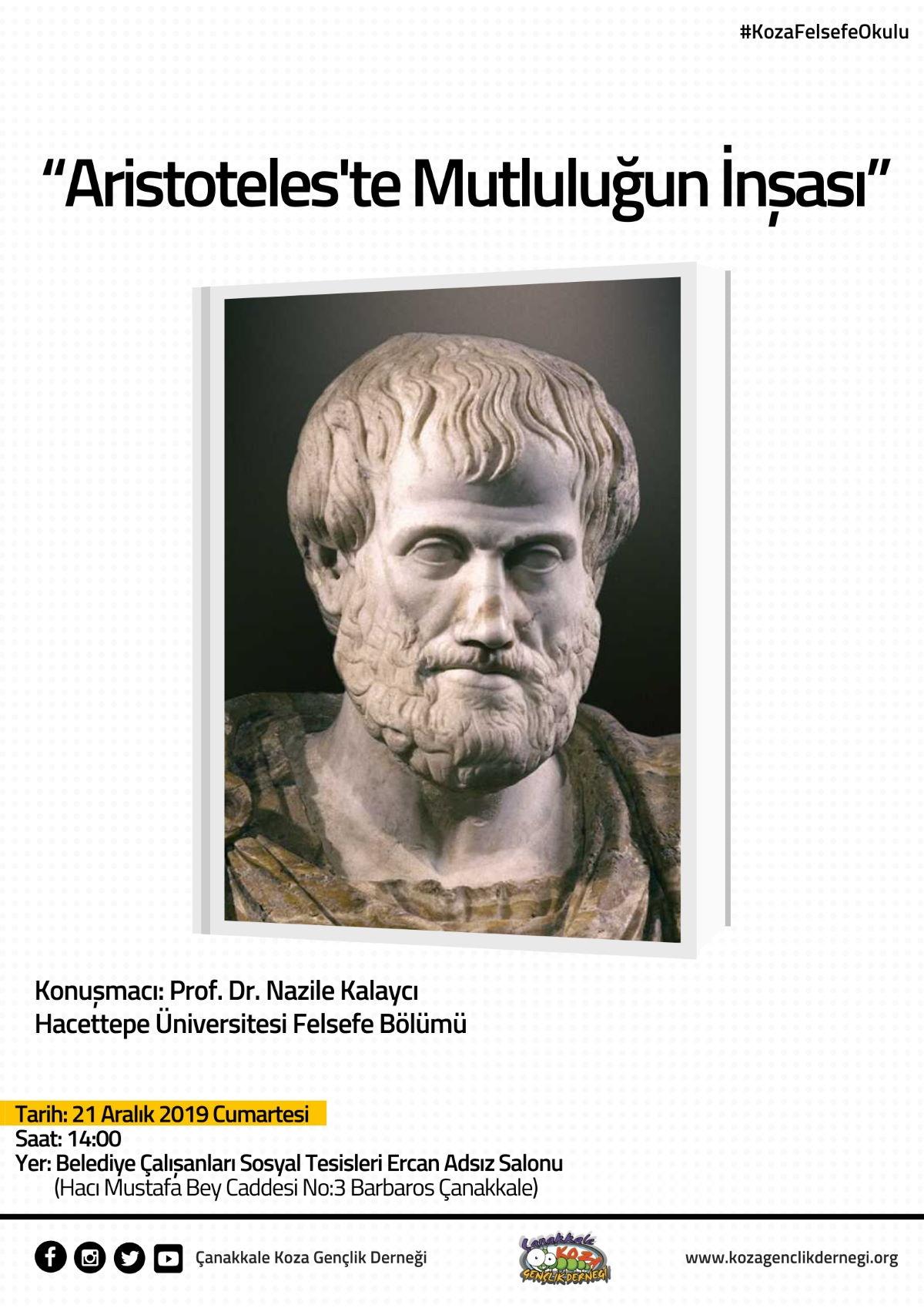 Koza Felsefe Okulu | Aristoteles'te Mutluluğun İnşası